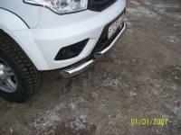 Передняя защита УАЗ Патриот двойная new (краш.)