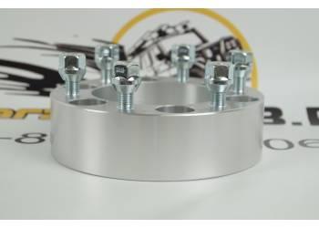 Проставка ступичная 6X139,7mm (6-5.5) алюминий (1шт) (толщина: 50мм; резьба на шпильках: 12x1.5) 6X139,7